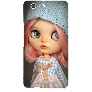 3D Designer Back Cover for Gionee Marathon M5 :: Baby Cartoon Girl in Woolen Cap  ::  Gionee Marathon M5 Designer Hard Plastic Case (Eagle-045)