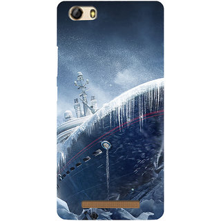 3D Designer Back Cover for Gionee Marathon M5 Lite :: Ship in Ice  ::  Gionee Marathon M5 Lite Designer Hard Plastic Case (Eagle-105)