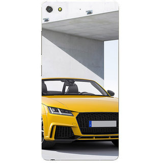 3D Designer Back Cover for Gionee S7 :: Yellow Luxury Car  ::  Gionee S7 Designer Hard Plastic Case (Eagle-050)