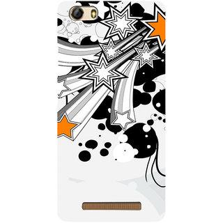 3D Designer Back Cover for Gionee Marathon M5 Lite :: Multicolor Stars  ::  Gionee Marathon M5 Lite Designer Hard Plastic Case (Eagle-109)