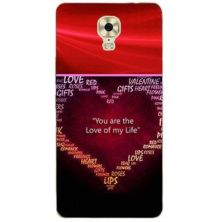 3D Designer Back Cover for Gionee Marathon M6 Plus :: You are the Love of my Life  ::  Gionee Marathon M6 Plus Designer Hard Plastic Case (Eagle-237)