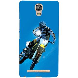 3D Designer Back Cover for Gionee Marathon M5 Plus :: Biker Riding Bike  ::  Gionee Marathon M5 Plus Designer Hard Plastic Case (Eagle-053)