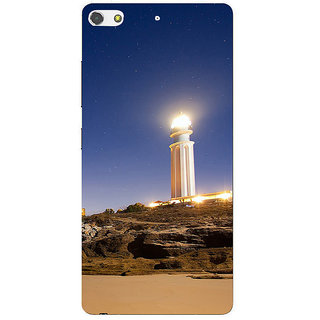 3D Designer Back Cover for Gionee S7 :: Tower with Light  ::  Gionee S7 Designer Hard Plastic Case (Eagle-062)