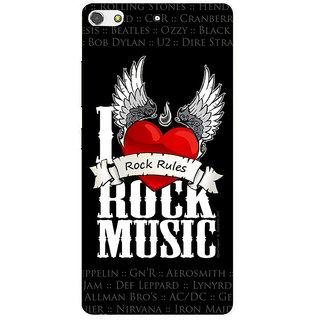 3D Designer Back Cover for Gionee S7 :: Rock Music  ::  Gionee S7 Designer Hard Plastic Case (Eagle-066)