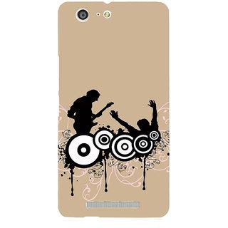 3D Designer Back Cover for Gionee Marathon M5 :: Drum and Guitar  ::  Gionee Marathon M5 Designer Hard Plastic Case (Eagle-076)