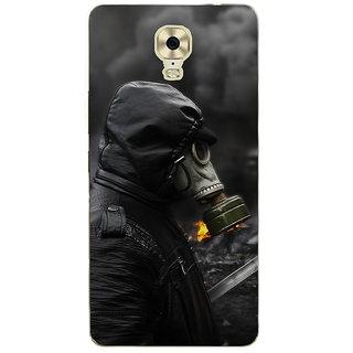 3D Designer Back Cover for Gionee Marathon M6 Plus :: Man in Black in Fire  ::  Gionee Marathon M6 Plus Designer Hard Plastic Case (Eagle-120)
