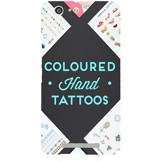 3D Designer Back Cover for Gionee Marathon M5 :: Coloured Hand Tattoos  ::  Gionee Marathon M5 Designer Hard Plastic Case (Eagle-178)