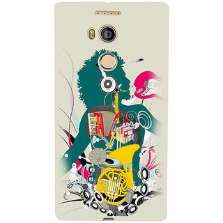 3D Designer Back Cover for Gionee Elife E8 :: Musical Instruments  ::  Gionee Elife E8 Designer Hard Plastic Case (Eagle-175)