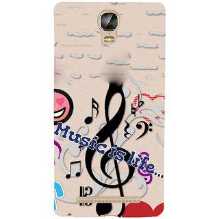 3D Designer Back Cover for Gionee Marathon M5 Plus :: Music is Life   ::  Gionee Marathon M5 Plus Designer Hard Plastic Case (Eagle-242)