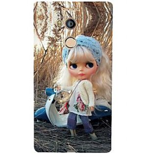 3D Designer Back Cover for Gionee Elife E8 :: Cartoon Girl in Jungle on Scooter  ::  Gionee Elife E8 Designer Hard Plastic Case (Eagle-044)