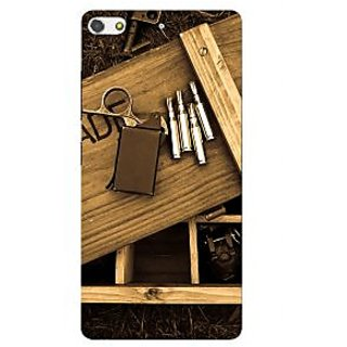 3D Designer Back Cover for Gionee S7 :: Wooden Box and Instruments  ::  Gionee S7 Designer Hard Plastic Case (Eagle-121)
