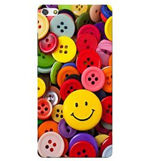 3D Designer Back Cover for Gionee S7 :: Colorful Buttons  ::  Gionee S7 Designer Hard Plastic Case (Eagle-129)