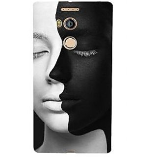 3D Designer Back Cover for Gionee Elife E8 :: Black and White Face  ::  Gionee Elife E8 Designer Hard Plastic Case (Eagle-216)