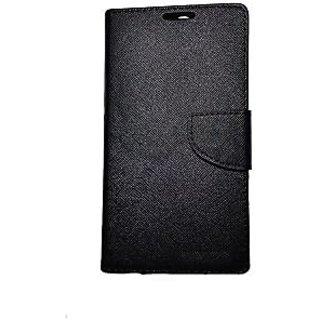 New Mercury Goospery Fancy Diary Wallet Flip Case Back Cover for  Motorola Moto E2 (BLACK)