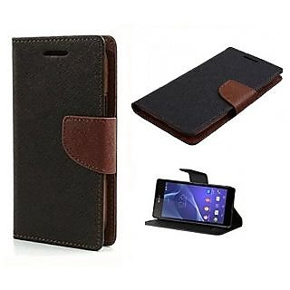 New Mercury Goospery Fancy Diary Wallet Flip Case Back Cover for  Lenovo A6600 (BROWN)