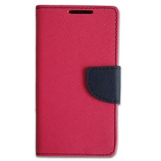 New Mercury Goospery Fancy Diary Wallet Flip Case Back Cover for  Samsung Galaxy E5  (Pink)