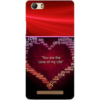 3D Designer Back Cover for Gionee Marathon M5 Lite :: You are the Love of my Life  ::  Gionee Marathon M5 Lite Designer Hard Plastic Case (Eagle-237)