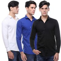 VSI Multicolor Slim Fit Casual Shirt for Men (Pack of 3)