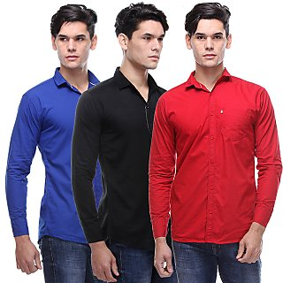Vsi Multicolor Full Sleeves Spread Collar Casual Shirt For Men