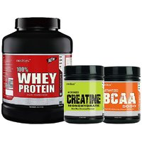 Medisys Bodybuilding Combo Whey Protein Chocolate- 2Kg+Creatine  BCAA