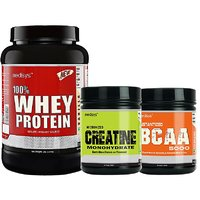 Medisys Bodybuilding Combo Whey Protein Vanilla-1Kg+Creatine  BCAA