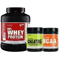 Medisys Bodybuilding Combo Whey Protein Vanilla-2Kg+Creatine  BCAA