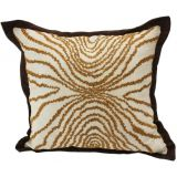 "Dual Tone Embroidered Amoebic Trance Cushion Covers (16"")"