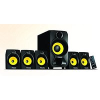Philips SPA-3800B Heart Beat 5.1 Home Theater System (Black/Yellow)