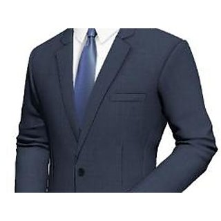 Mens Blue Regular Fit Formal Trousers