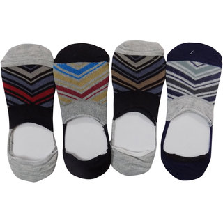 Pair of 4 Men/Boys Cotton Ankle socks, Loafer Socks, Casual Socks