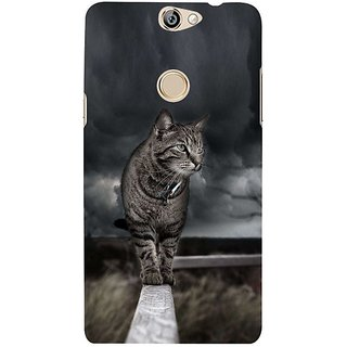 Fuson Designer Phone Back Case Cover Coolpad Max ( The Cat On A Wall )