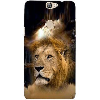 Fuson Designer Phone Back Case Cover Coolpad Max ( Lion Face Imprinted On Jungle )