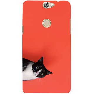 Fuson Designer Phone Back Case Cover Coolpad Max ( Cat Peeping Out From Frame )