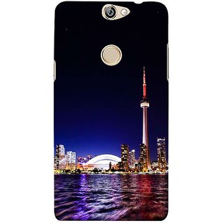 Fuson Designer Phone Back Case Cover Coolpad Max ( City Lights )