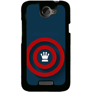 Fuson Designer Back Cover For HTC One X :: HTC One X+ :: HTC One X Plus :: HTC One XT (Crown Circles Red Circles Spheres ROunds)