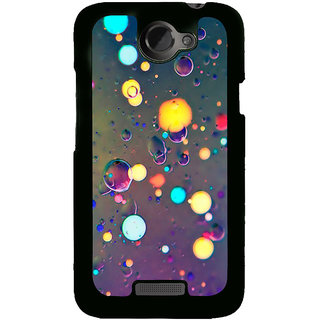 Fuson Designer Back Cover For HTC One X :: HTC One X+ :: HTC One X Plus :: HTC One XT (Water Droplets Droplets Rain Water Lights Colourful)