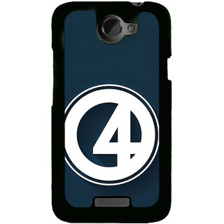 Fuson Designer Back Cover For HTC One X :: HTC One X+ :: HTC One X Plus :: HTC One XT (Number Four Fantastic Four Lucky Number Blue)