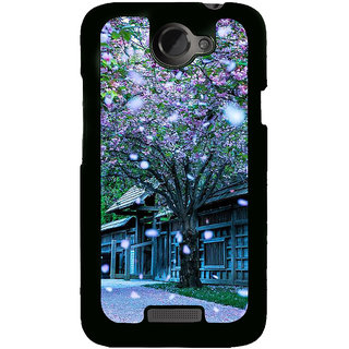 Fuson Designer Back Cover For HTC One X :: HTC One X+ :: HTC One X Plus :: HTC One XT (Seasonal Change Beautiful Season Autumn Spring Falling Flowers)