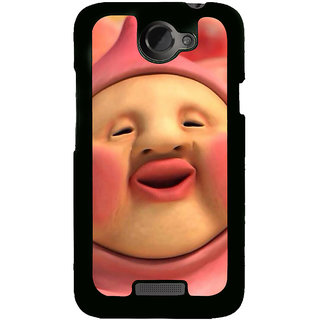 Fuson Designer Back Cover For HTC One X :: HTC One X+ :: HTC One X Plus :: HTC One XT (Smiley Emoticon Smile Smashing Knocking)