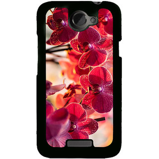 Fuson Designer Back Cover For HTC One X :: HTC One X+ :: HTC One X Plus :: HTC One XT (Red Flowers Beautiful Flowers LOvely Flowers Natural Flowers Flower Twigs)