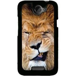 Fuson Designer Back Cover For HTC One X :: HTC One X+ :: HTC One X Plus :: HTC One XT (Lion Roaring Lion Wild Animal Furious Fierce)