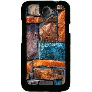 Fuson Designer Back Cover For HTC One X :: HTC One X+ :: HTC One X Plus :: HTC One XT (Stones Strong Stones Sea Stones Stone Wall Small Stones)