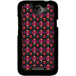 Fuson Designer Back Cover For HTC One X :: HTC One X+ :: HTC One X Plus :: HTC One XT (Flowers Red Flowers Pink Flowers Yellow Flowers Blue Lines)