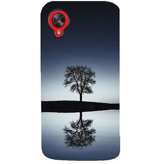 Fuson Designer Phone Back Case Cover LG Nexus 5 :: LG Google Nexus 5 :: Google Nexus 5 ( Single Tree Viewed At Night )