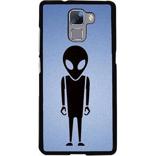 Fuson Designer Back Cover For Huawei Honor 7 (Devilish Dangerous Alien Extra Terrestrial Unearthly)