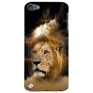 Fuson Designer Phone Back Case Cover Apple IPod Touch 5 :: Apple IPod 5 (5th Generation) ( Lion Face Imprinted On Jungle )