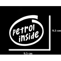Petrol Inside Sticker For Car Fuel Lid (white Reflective Finish)