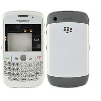 Blackberry 8520 Curve Housing Faceplate Cover Case Body - White - 3577516