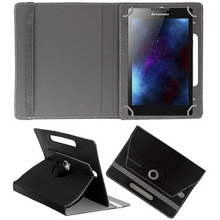 Gocart Flip Cover For Micromax Canvas Tab P470 (Black)