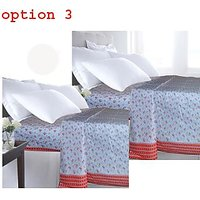 Deal Wala Pack Of 2 Printed Single Bedsheet Cum Top Sheet-option-3